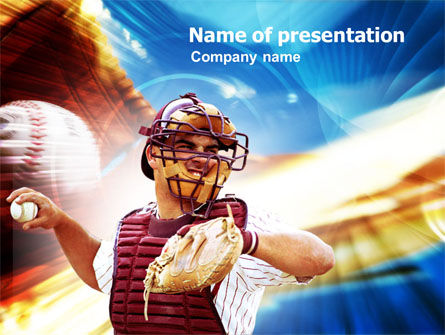 Sports: Baseball Mound PowerPoint Template #01189