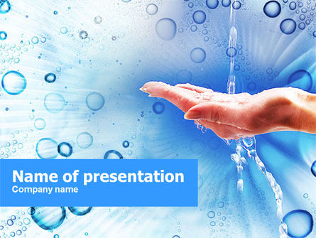 Tap Water PowerPoint Template, 01194, Nature & Environment — PoweredTemplate.com