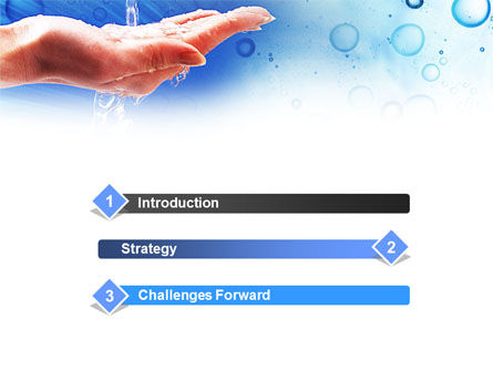 Tap Water Powerpoint Template Backgrounds