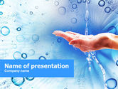 Nature & Environment: Tap Water PowerPoint Template #01194