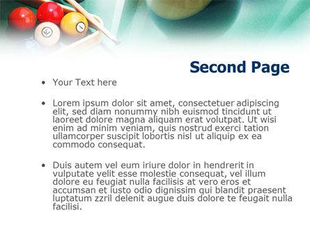 Billiards PowerPoint Template, Slide 2, 01196, Sports — PoweredTemplate.com