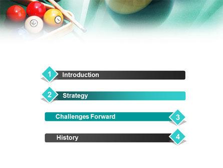 Billiards PowerPoint Template, Slide 3, 01196, Sports — PoweredTemplate.com