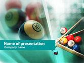 Sports: Billiards PowerPoint Template #01196