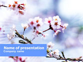 Nature & Environment: Blooming Tree PowerPoint Template #01197