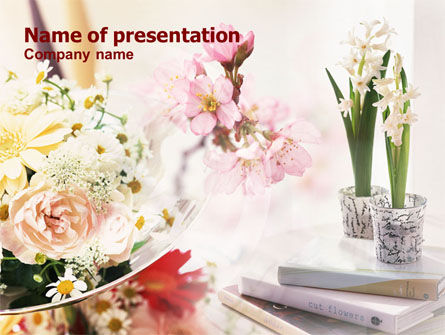 Flower Decoration PowerPoint Template, 01199, Careers/Industry — PoweredTemplate.com