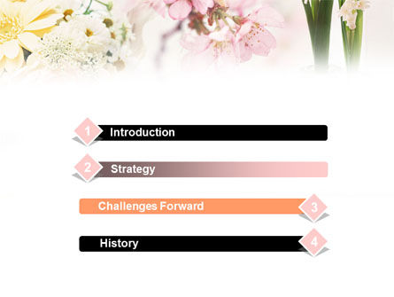 Flower Decoration PowerPoint Template, Slide 3, 01199, Careers/Industry — PoweredTemplate.com