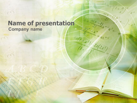 Education & Training: Algebra PowerPoint Template #01201