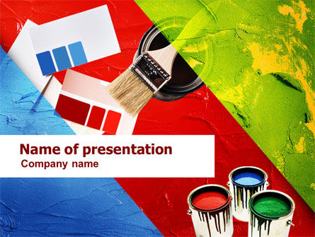 Construction: Color Paint PowerPoint Template #01202
