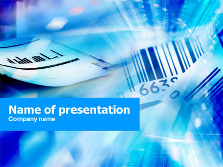 Bar Code PowerPoint Template, 01204, Business Concepts — PoweredTemplate.com