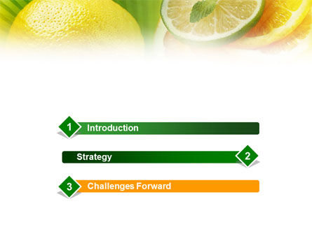 Free Sliced Lemon PowerPoint Template Slide 3