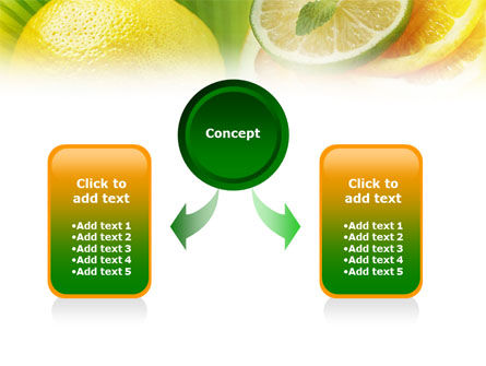 Free Sliced Lemon PowerPoint Template Slide 4