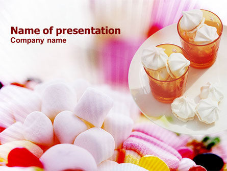 Food & Beverage: Marshmallow Free PowerPoint Template #01206