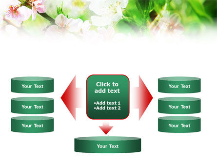 Blooming Cherry Tree PowerPoint Template Slide 13
