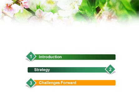 Blooming Cherry Tree PowerPoint Template Slide 3