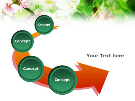 Blooming Cherry Tree PowerPoint Template Slide 6