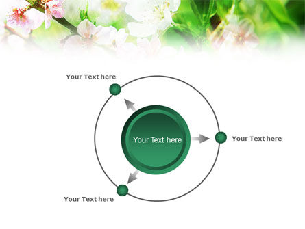 Blooming Cherry Tree PowerPoint Template Slide 7
