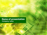 Telecommunication: Green Email Theme PowerPoint Template #01209