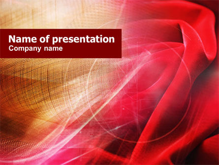 Red Cloth PowerPoint Template, 01211, Abstract/Textures — PoweredTemplate.com