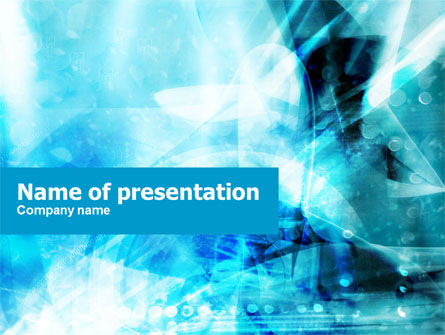 Aqua Abstract Theme PowerPoint Template