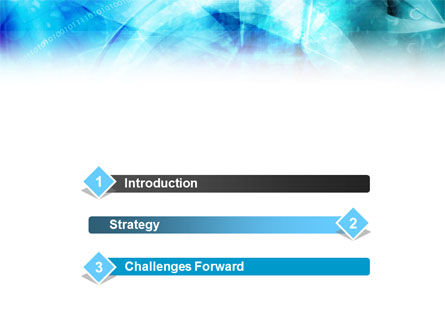 Aqua Abstract Theme PowerPoint Template Slide 3
