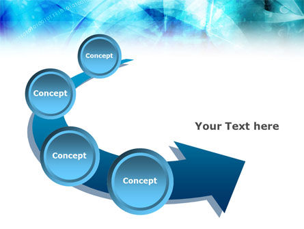 Aqua Abstract Theme PowerPoint Template Slide 6