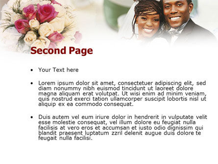 Wedding Theme PowerPoint Template Slide 2