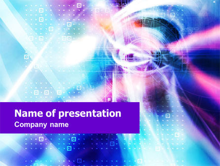 Purple Blue Technological PowerPoint Template, 01214, Technology and Science — PoweredTemplate.com