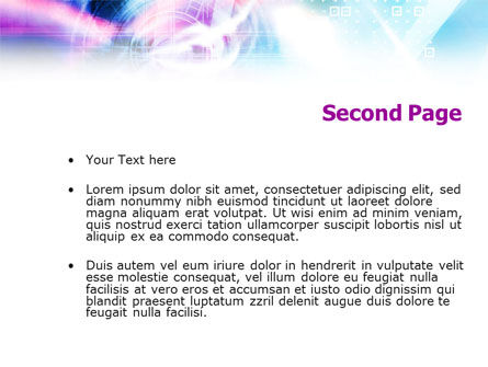 Purple Blue Technological PowerPoint Template, Slide 2, 01214, Technology and Science — PoweredTemplate.com