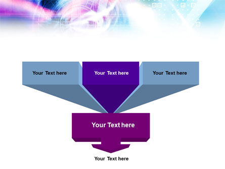 Purple Blue Technological PowerPoint Template, Slide 3, 01214, Technology and Science — PoweredTemplate.com