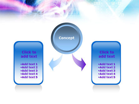 Purple Blue Technological PowerPoint Template, Slide 4, 01214, Technology and Science — PoweredTemplate.com