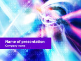Technology and Science: Modèle PowerPoint de purple blue technologie #01214