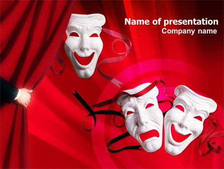 Art & Entertainment: Theatrical Masks PowerPoint Template #01215