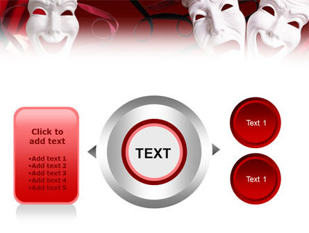 Theatrical Masks PowerPoint Template Slide 12