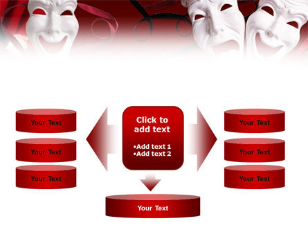 Theatrical Masks PowerPoint Template Slide 13