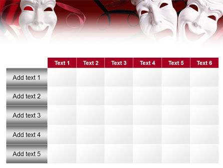 Theatrical Masks PowerPoint Template Slide 15