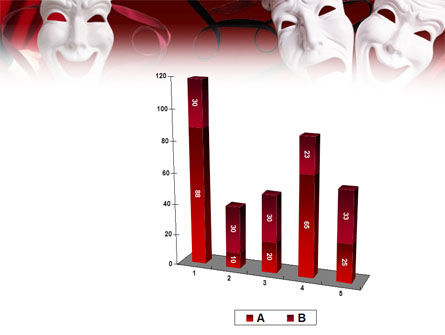 Theatrical Masks PowerPoint Template Slide 17