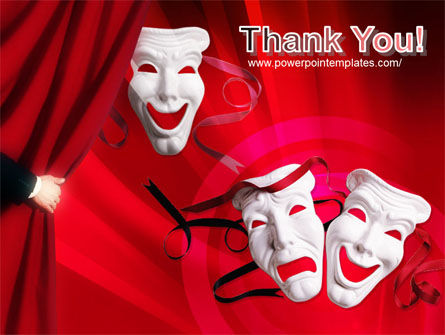 Theatrical Masks PowerPoint Template Slide 20