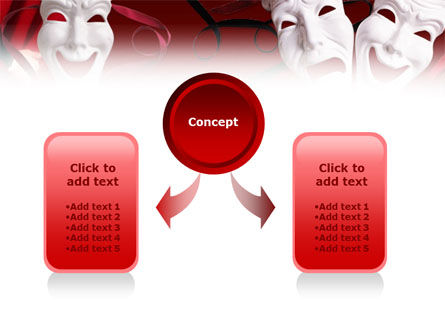 Theatrical Masks PowerPoint Template Slide 4