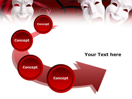 Theatrical Masks PowerPoint Template Slide 6