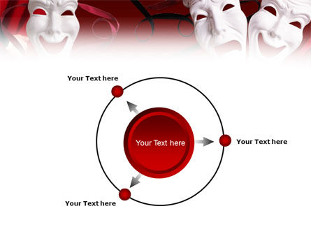 Theatrical Masks PowerPoint Template Slide 7