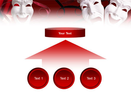 Theatrical Masks PowerPoint Template Slide 8
