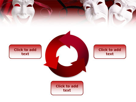Theatrical Masks PowerPoint Template Slide 9