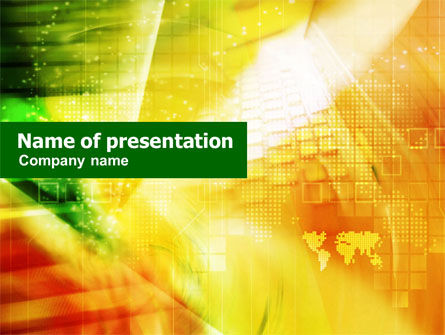 Telecommunication: Yellow Technological Theme PowerPoint Template #01217