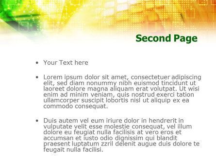 Yellow Technological Theme PowerPoint Template, Slide 2, 01217, Telecommunication — PoweredTemplate.com