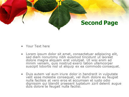 Red Rose PowerPoint Template Slide 2
