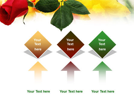 Red Rose PowerPoint Template Slide 5