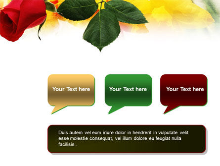 Red Rose PowerPoint Template Slide 9