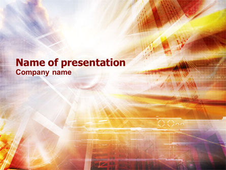 Shining Technology PowerPoint Template, 01219, Business Concepts — PoweredTemplate.com