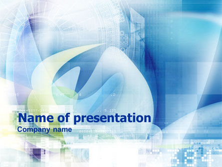 Technological Theme PowerPoint Template, 01220, Technology and Science — PoweredTemplate.com