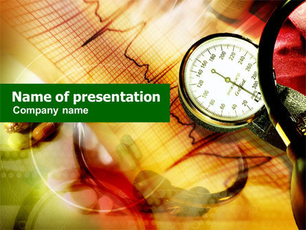Blood Pressure PowerPoint Template, 01221, Medical — PoweredTemplate.com